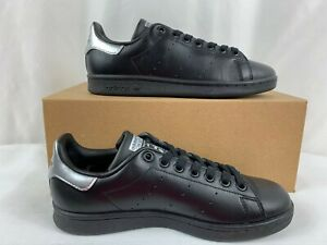 Adidas Stan Smith Women's Trainer Sneaker Shoes Size 6.5 Black/Silver