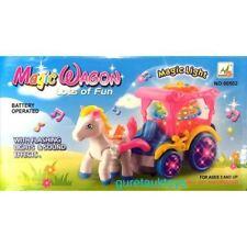 my little pony / poney musical et lumineux avec sa calèche magique