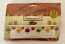 Fall Leaf Glitter Paper Fan Garland Fall Party Decoration    H1