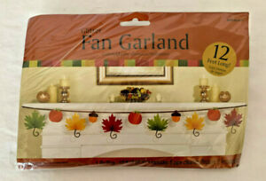 Fall Leaf Glitter Paper Fan Garland Fall Party Decoration