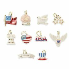 LENOX ~ 4th of July INDEPENDENCE DAY Patriotic 10 Miniature ORNAMENTS NIB NOTree