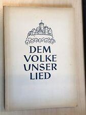 Dem Volke unser Lied, Reden Aufsätze Dokumente v. Chor-Ausschuß DDR, 1956 Kunze
