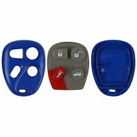 New Case Button Pad Blue Fits Chevy Buick GM Keyless Remote FCC ID KOBLEAR1XT