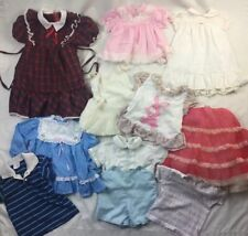Vtg Lot Misc Boy Girl Clothes Dress Used Various Sizes With Flaws