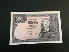BILLETE DE 5000 PESETAS DE CARLOS III DEL AÑO 1976.EN MUY BUEN ESTADO (SERIE P)