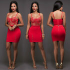 Women Party Cocktail Clubwear Bodycon Two Piece Crop Top Short Skirt Dress Set