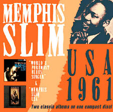 MEMPHIS SLIM ~ USA 1961 BRAND NEW SEALED CD * 2 CLASSIC BLUES ALBUMS ON I DISC