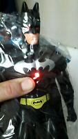 "THE SUPERHEROS Dark Knight BATMAN 13"" Inch Action Figure which Lights Up"