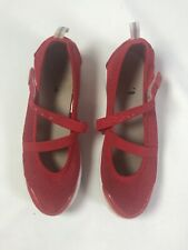 Propet Travel Walker W3242 Red Mary Jane Flat Comfort Shoes Womens Size 8.5 M(B)
