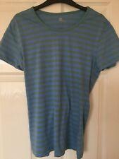 Ladies Blue and Green Stripe GAP T-Shirt Size US XL