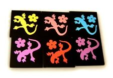 LIZARD SET OF 6 ETCHED DICHROIC GLASS (EA5) CBS COE 90 FUSING SUPPLY