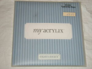 Craft TYPEWRITER KEYS D1220 My Acrylix Stamps Scrapbooking Close to my Heart