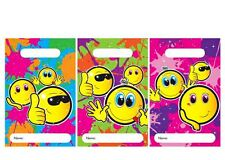 36x PARTY BAGS SMILEY FACE Loot Empty Patterned Gift sweet treat bag kids