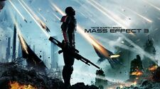 Mass effect 2 3 4 Game Fabric Art Cloth Poster 24inch x 13inch Decor 97