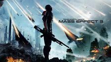 "Mass effect 2 3 4 Game Fabric poster 43"" x 24"" Decor 97"