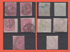 More details for victoria 1855-57 4d selection. sg.62-63-64-65-66a. average to good used.