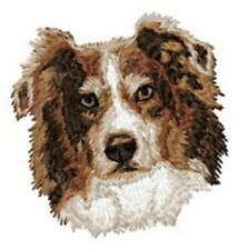 "Australian Shepherd, Aussie Dog, Embroidered Patch 2.8"" Tall"
