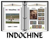 Album de timbres à imprimer     INDOCHINE  PLUS