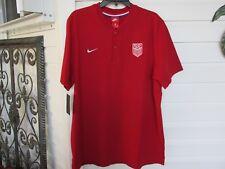 Nike Mens Usa Olympic Soccer Polo Shirt #832448 sz Xl Nwt $80.00 Red