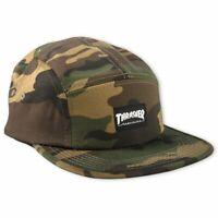 Thrasher Magazine 5 Panel Camper Camo Logo Skateboard Hat Snapback Cap Mens New