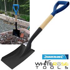Silverline Micro Shovel Spade Wooden Square Head 700mm Gardening Groundworks