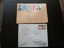 FRANCE - 2 enveloppes 1971 (cy66) french