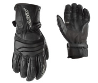 RST Jet CE Mens Leather Black Motorbike Motorcycle Gloves