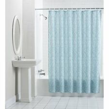 "Mainstays Persia Fabric Shower Curtain New Blue 70""x71"""