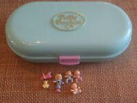 Polly Pocket 1992 Bluebird Babysitting Stamper Nursery Baby Compact Complete V2
