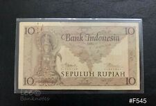 Indonesia - 1952 10 Rupiah | VF with rust and 1 nick