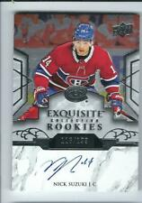 2019/20 Exquisite Collection Rookies R12 Nick Suzuki Auto /199 Montreal