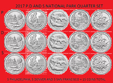 2017 America the Beautiful Quarter P, D, & S 15 Coin Set UNC