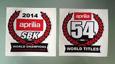 2014 World Super Bike Champions Decal Stickers for Aprilia