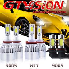 H11 9005 LED Headlight Hi/Lo Beam+Fog Light 9145 9140 For 15-17 Ford F-150 F150