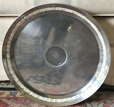 Towle Silversmiths Aluminum Mother Of Pearl Inlay Large Round Serving Tray 15.5""
