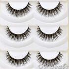 5 Pairs Cute Thick Cross Makeup Soft Eye Lashes Extension Beauty False Eyelashes