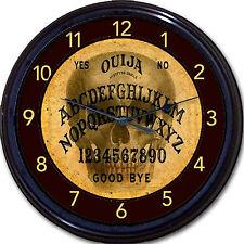 "Ouija Board Skeleton Skull Wall Clock Paranormal Halloween Occult Wicca 10"""