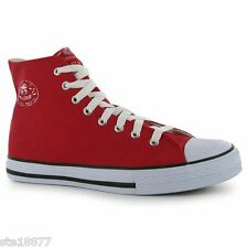 DUNLOP CLASSIC RED HI TOP BASEBALL BASKETBALL BOOTS TRAINERS SIZE 6 7 8  9 10 11