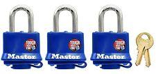 Master Lock 312Tri Laminated Padlocks with Blue Thermoplastic Shell