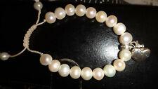 Thomas Sabo Adjustable Pearl Bracelet & A Heart Charm