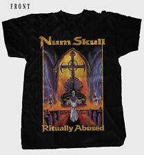 NUM SKULL-Ritually Abused-Metal Band-Morbid Saint,BLACK  T-shirt sizes: S to 7XL