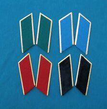 8 Russian Soviet Military Collar Tabs. Elements Officer Uniform arr. 1969
