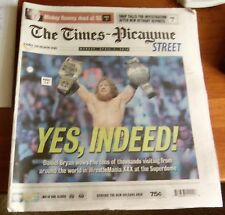 DANIEL BRYAN cover WRESTLEMANIA XXX  30 NEW ORLEANS Times Picayune Newspaper
