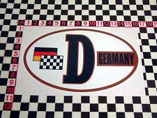 Retro Style Germany D Sticker BMW Isetta 2002 1602 VW Beetle Karmann Ghia Type 3