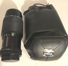 Vivitar 80-200mm Zoom lens Canon FD mount 1:4.5 MC w/ Filter caps case clean o