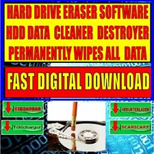HARD DRIVE DATA DESTROYED PERMANENTLY WIPE ERASE CLEANS DELETES INSTANT DOWNLOAD