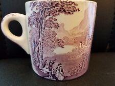 Royal Staffordshire Pottery England Jenny Lind 1795 Mug  Cup purple lavenda