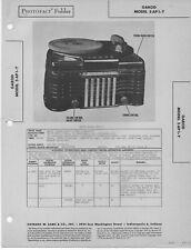 1947 GAROD 5AP1Y PHONOGRAPH RADIO SERVICE MANUAL SCHEMATIC PHOTOFACT 5 AP 1-Y