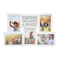Celebrations 5 Pictures Collage Photo Frame with Metal Words Family Gift Idea