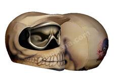 Skeleton Helmet Cover Bone Head Skulls Off Road Motorcycle Skin MX Dirt Bike ATV